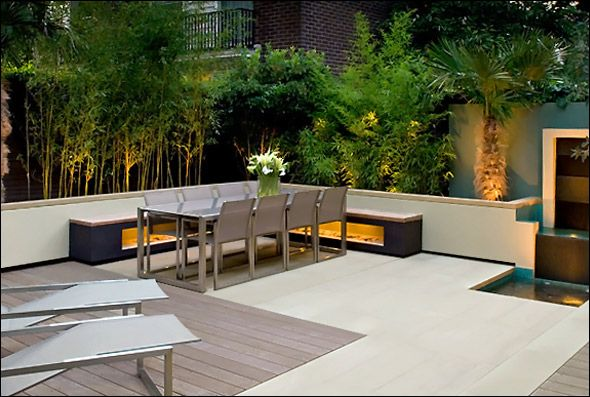 Minimalist Outdoor Dining Relaxing Backyard Garden House Nice Design