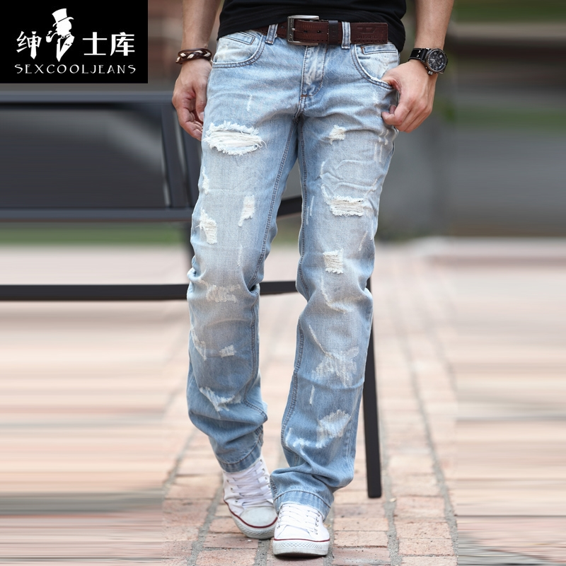 47.49$  Watch now - http://aliwn0.shopchina.info/go.php?t=1774376743 - Hot Sale 2017 New Arrival!Straight Jeans Men,Large Size,Famous Brand,Fashion Denim Jeans,Designer Jeans,Free Shipping  #buyininternet