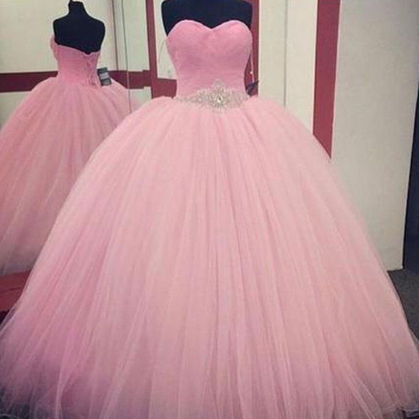 Encontrar Más Vestidos de quinceañera Información acerca de Rosa ...