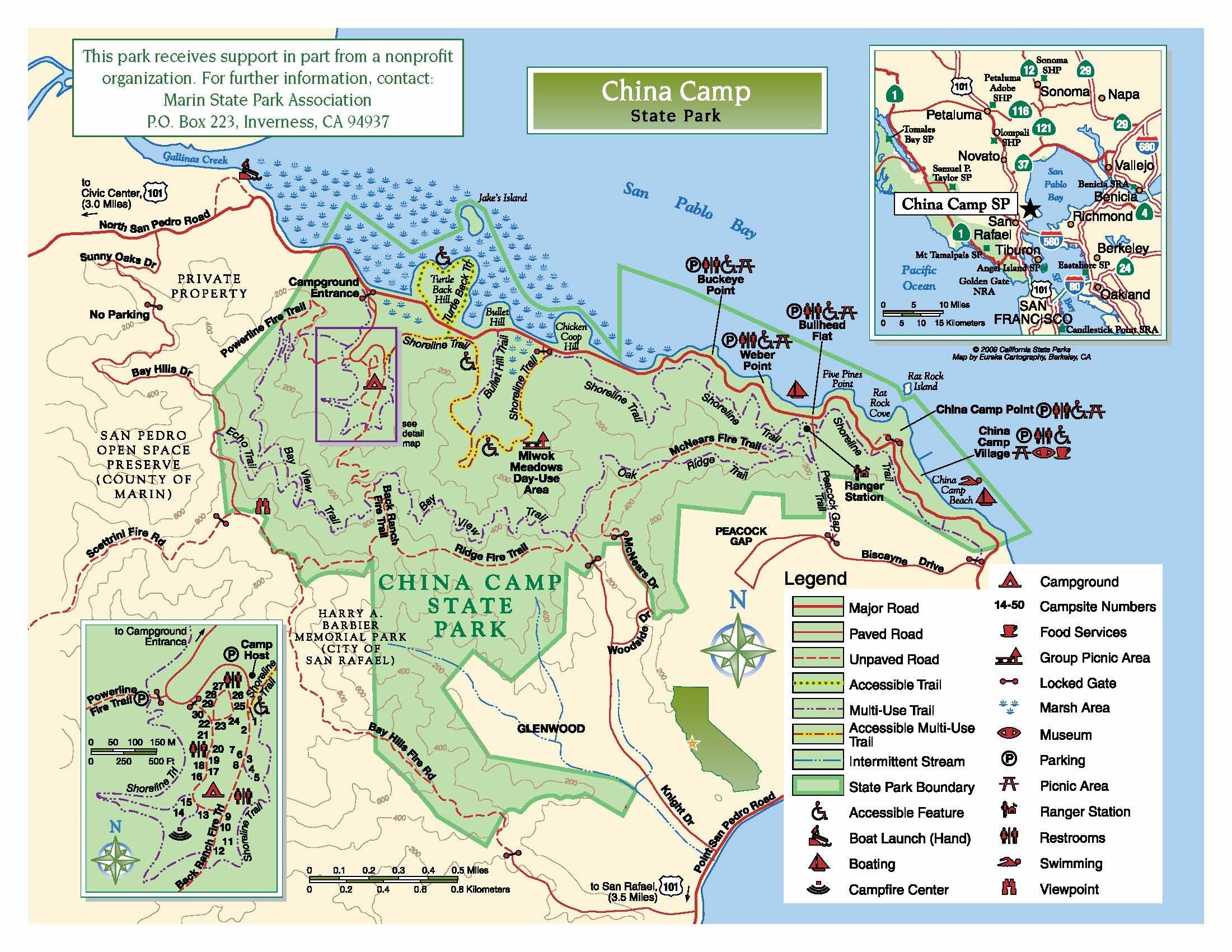 china camp state park map China Camp State Park Map State Parks San Pedro Camping china camp state park map
