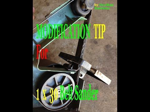 (31) Best Modification Tip for 1 X 30 Belt Sander - YouTube