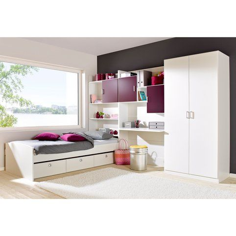 Ensemble Chambre Enfant Lit Armoire Etagere De Lit Espace Bureau Rauch 3suisses Home Loft Bed Home Decor