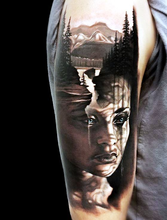 40 Unbelievable Realism Tattoo Ideas For Men And Women To Try Instaloverz Unusual Tattoo Stylish Tattoo Mother Nature Tattoos