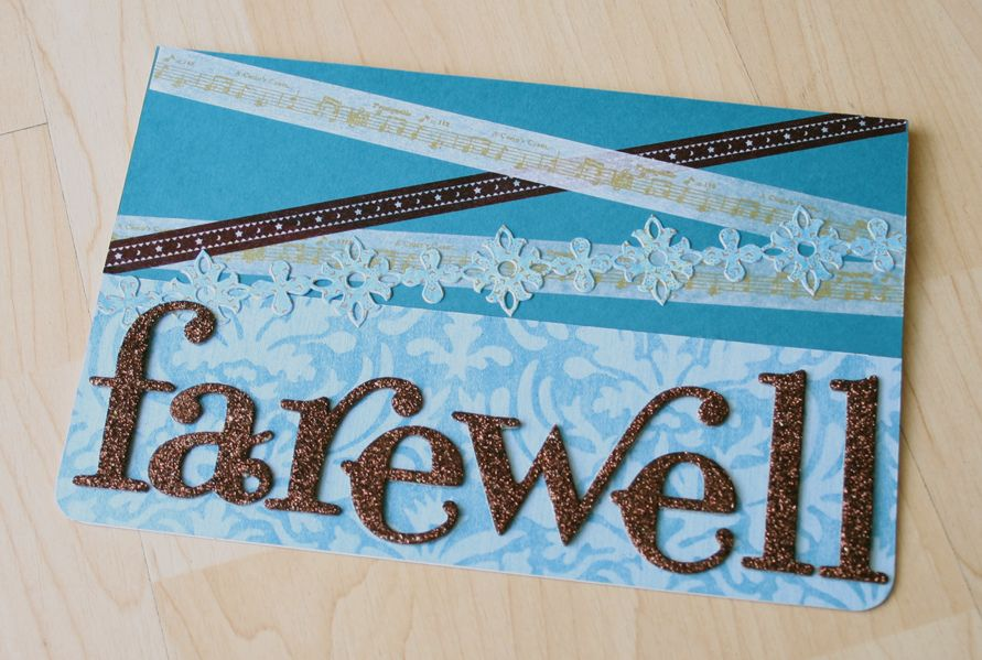 The Wonders Of Washi Tape Handmade Invitation Cards Farewell Cards Farewell Invitation Card