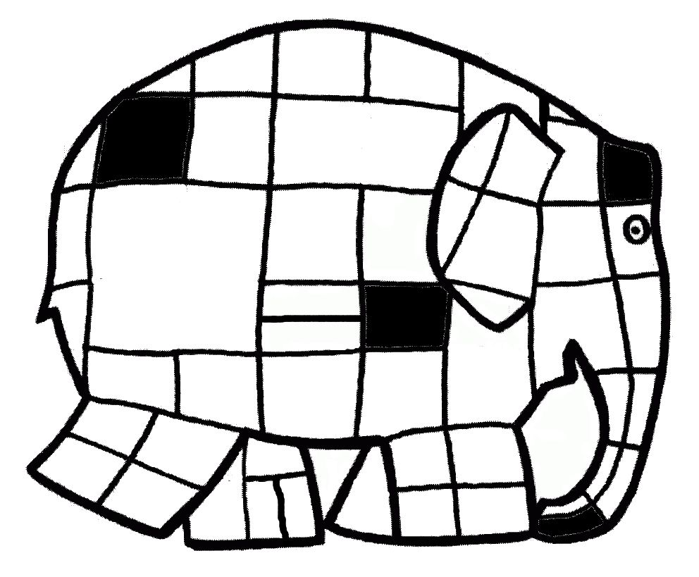 Kleurplaat Elmer Mondriaan Mondriaan Kunst Mondriaan Kleurplaten