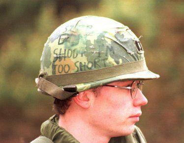 Vietnam War Helmet Graffiti Assembling Your Helmet