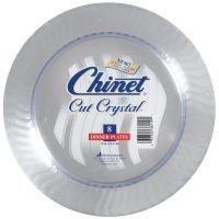 Chinet Cut Crystal Dinner Plates, 10\