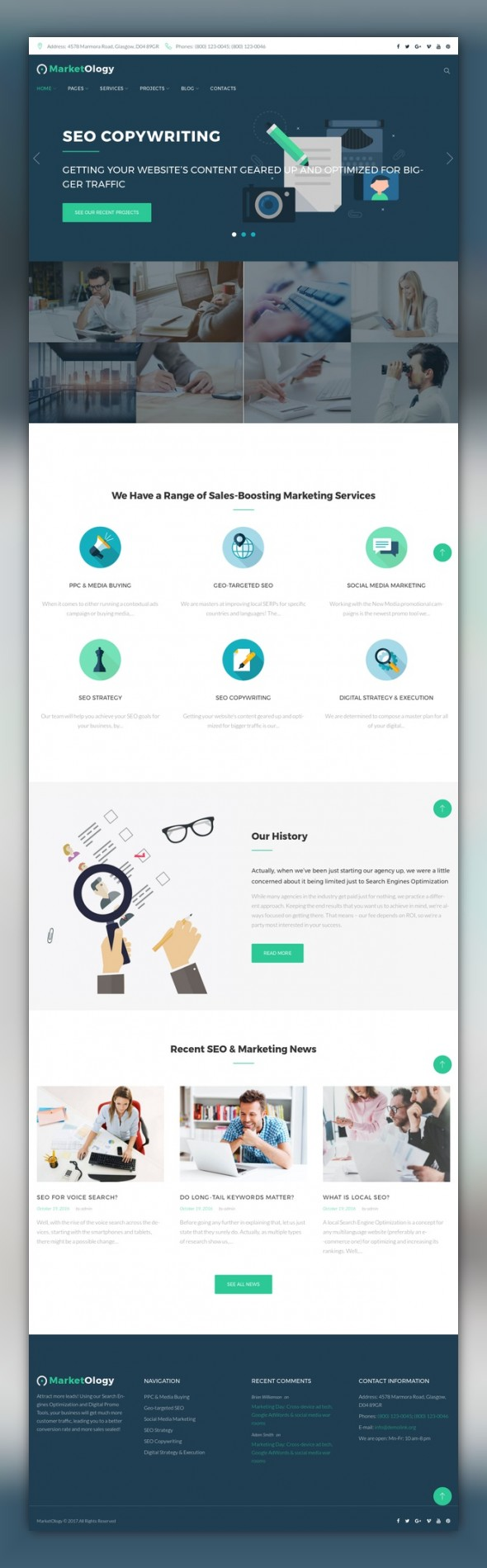 MarketOlogy - SEO and Marketing Agency Responsive WordPress Theme ...