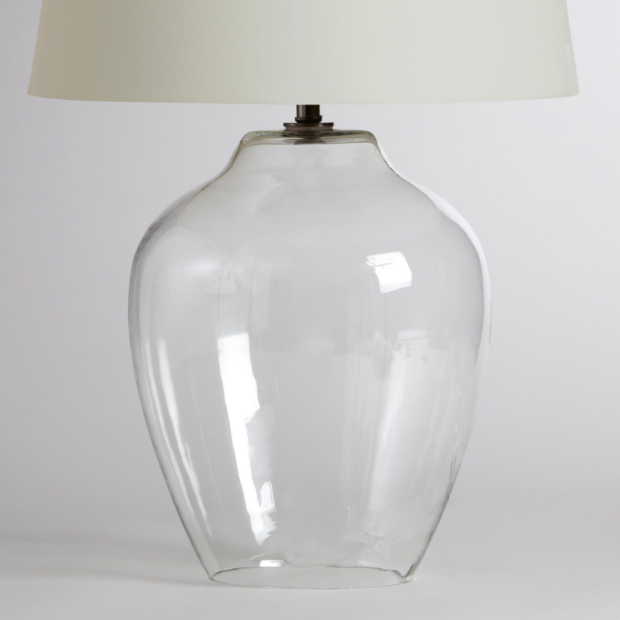 Glass fillable lamp base google search bb monsisvais the shapely silhouette of our clear glass table lamp base catches and reflects the light in any room geotapseo Image collections