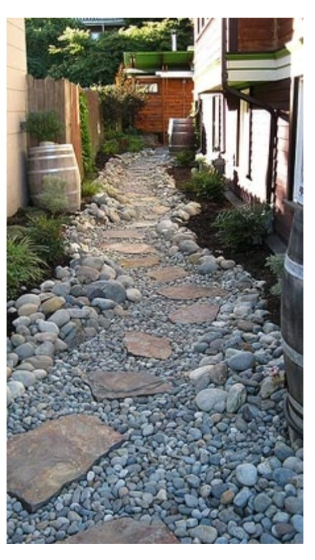 Looks like a dry riverbed; I like how natural it is