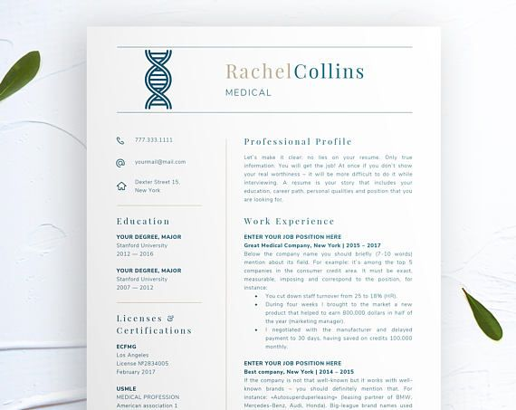 Nursing Resume Template Cna Resume Template Nurse Resume Nursing CV - How To Make A Nursing Resume