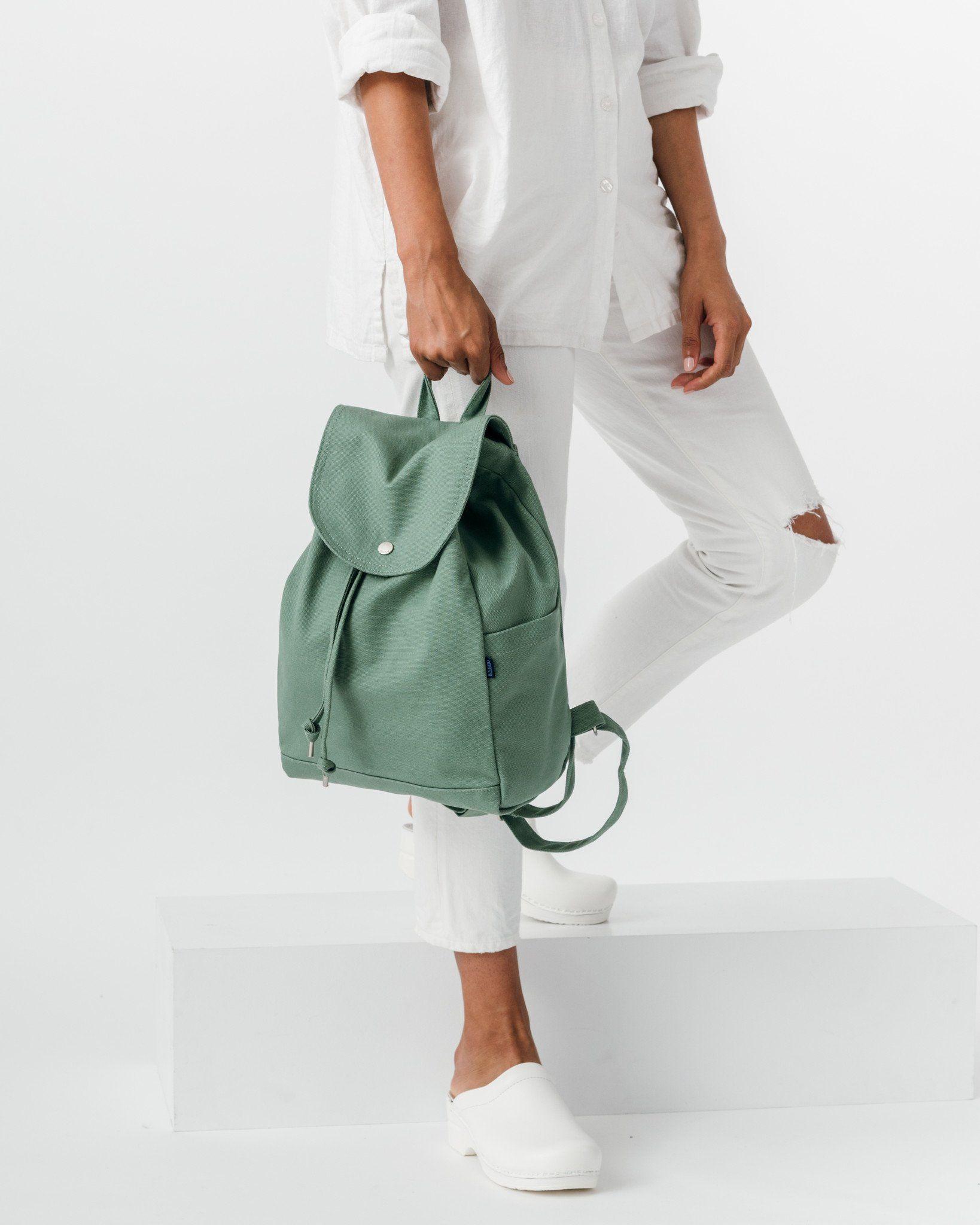 Drawstring Backpack - Olive – BAGGU  91a0f78ae7b58