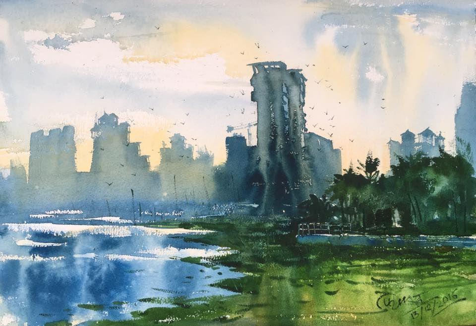 Watercolor Demo By Prashant Sarkar Painting Aquarelle Plein Air