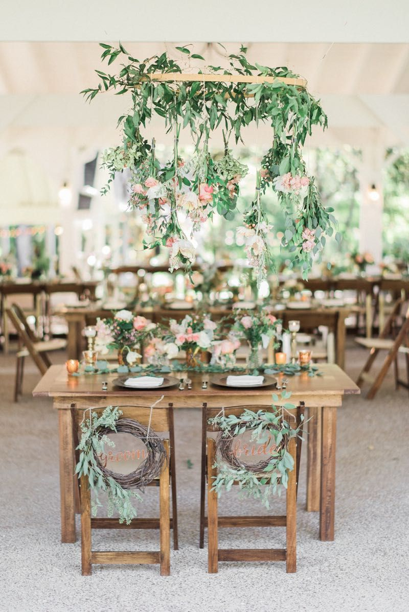rustic garden boho sweetheart table decor #cedarwoodweddings