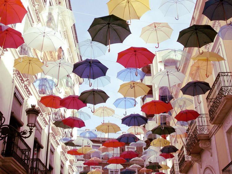 Umbrella street / Alicante, Spain