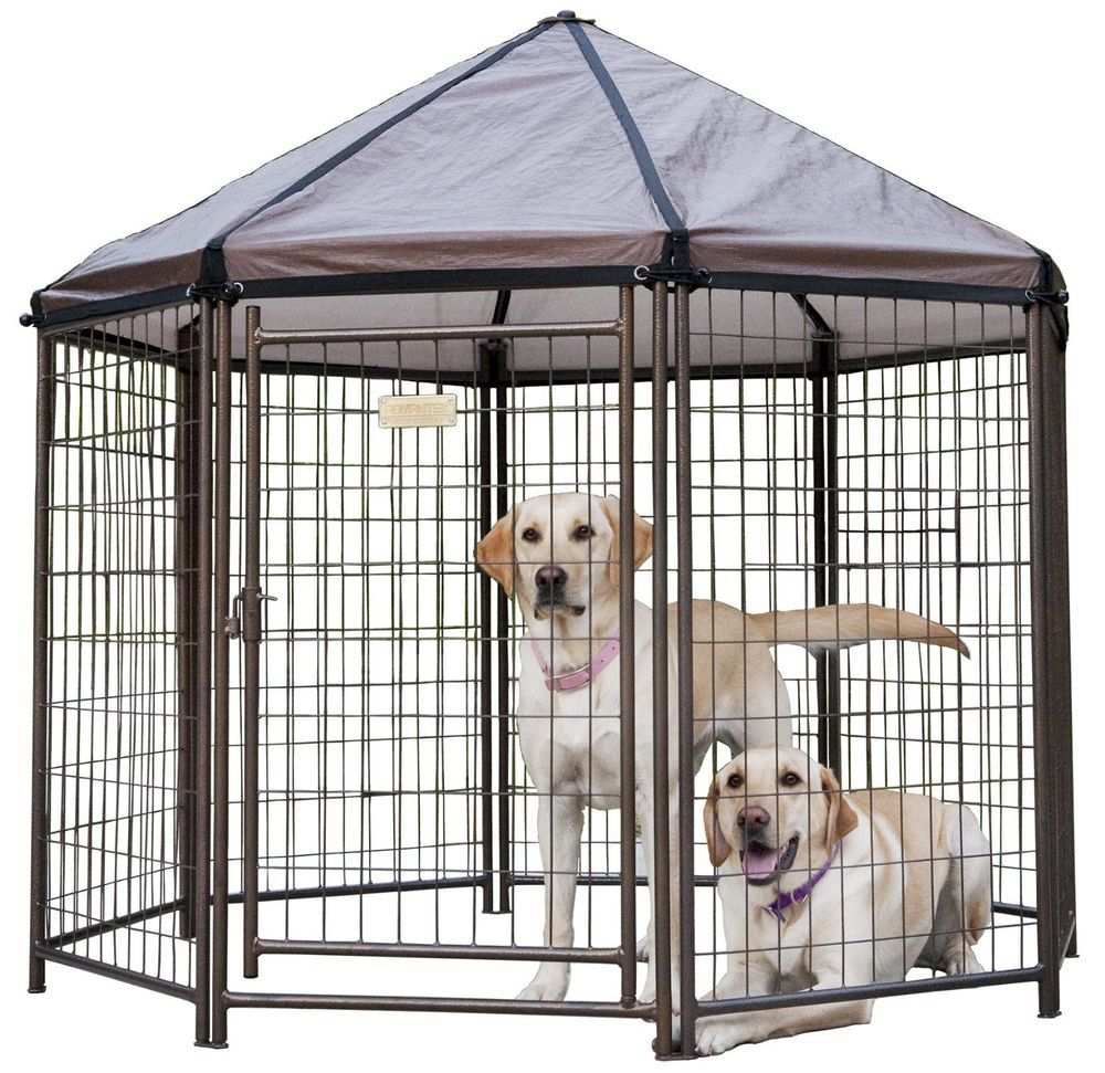 Outdoor Dog Kennel Steel Pen Pet Playpen Cover Portable Travel C&ing Connects  sc 1 st  Pinterest & Outdoor Dog Kennel Steel Pen Pet Playpen Cover Portable Travel ...
