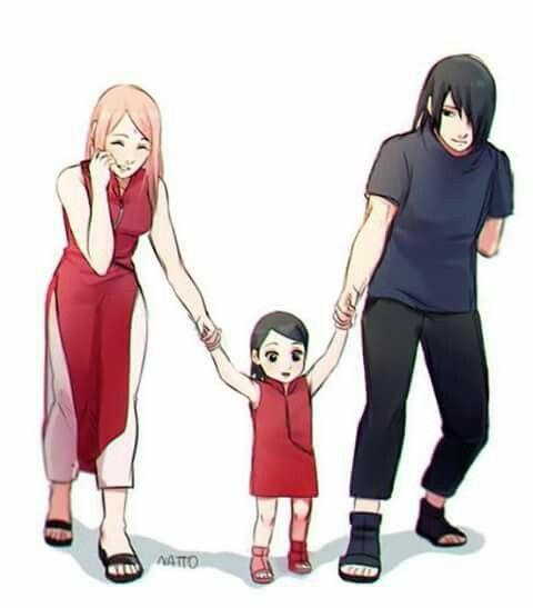 Sasuke, Sarada and Sakura
