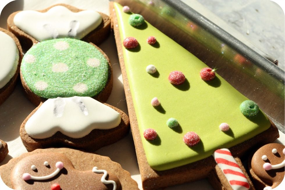 christmas tree candy decorated cookie
