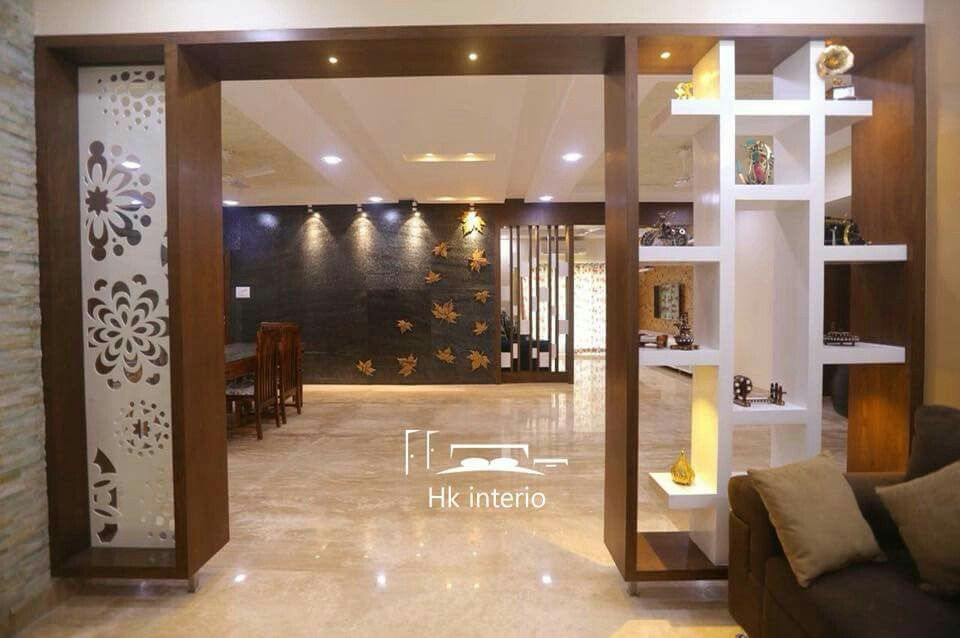 Wooden Partition Living Room Partition Ideas India Homyracks