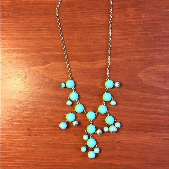 Mini Bubble Necklace - Mint Green Mini bubble necklace with mint green beads. Gold colored chain. In good condition. If you are interested in any of my other necklaces I will consider a special bundle price! Urban Peach Boutique Jewelry Necklaces