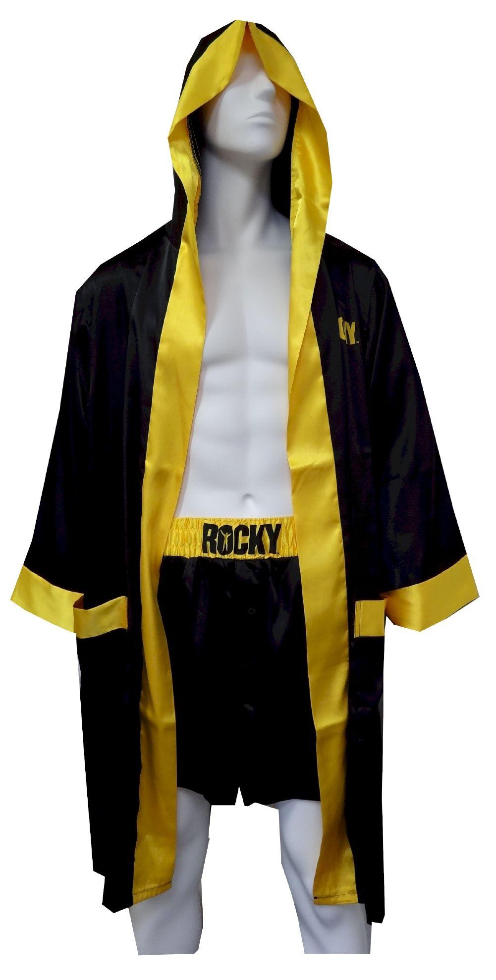 65f6d1a79f Rocky Balboa Satin Boxers with Hooded Satin Robe If you are a Rocky fan and  wanted to feel his triumph