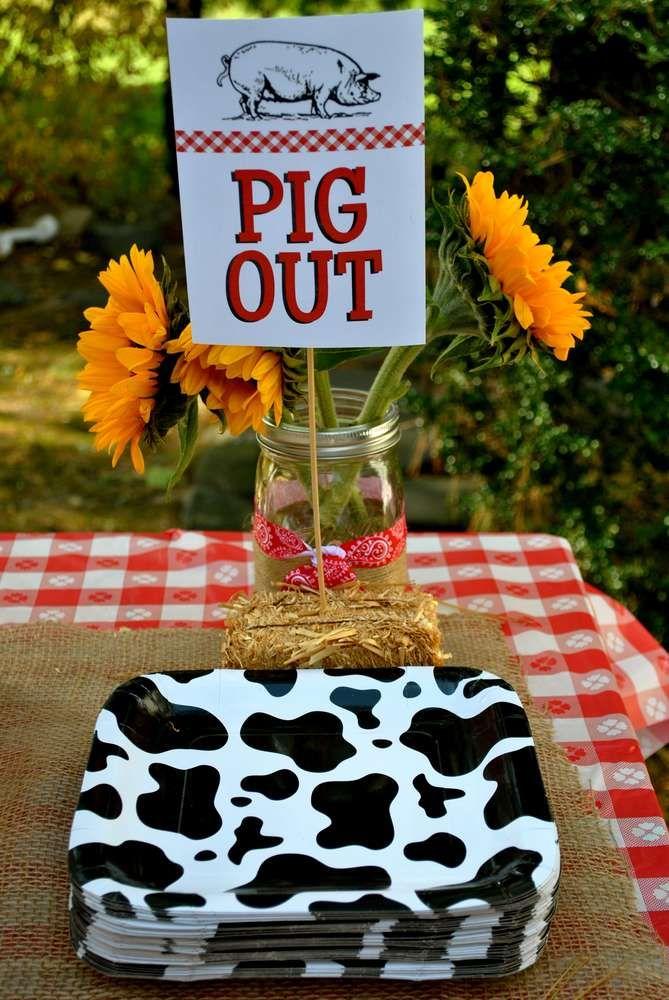 Farm Animals Birthday Party Ideas Photo 1 Of 18 Catch