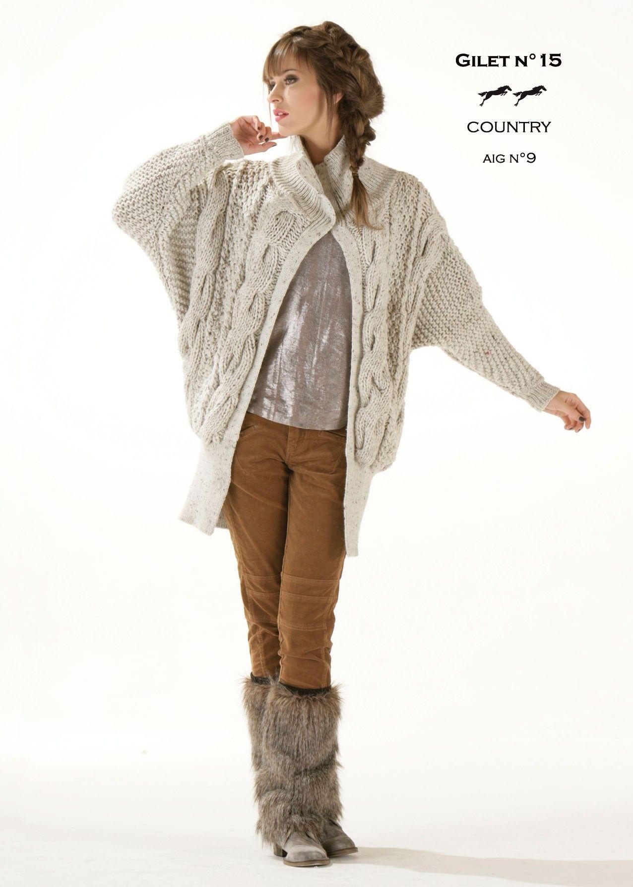 Modèle Gilet CB13-15- Patron tricot gratuit | patron de tricot ...