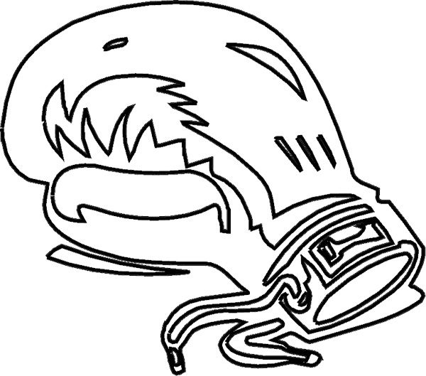 coloring pages of boxing gloves - photo#2