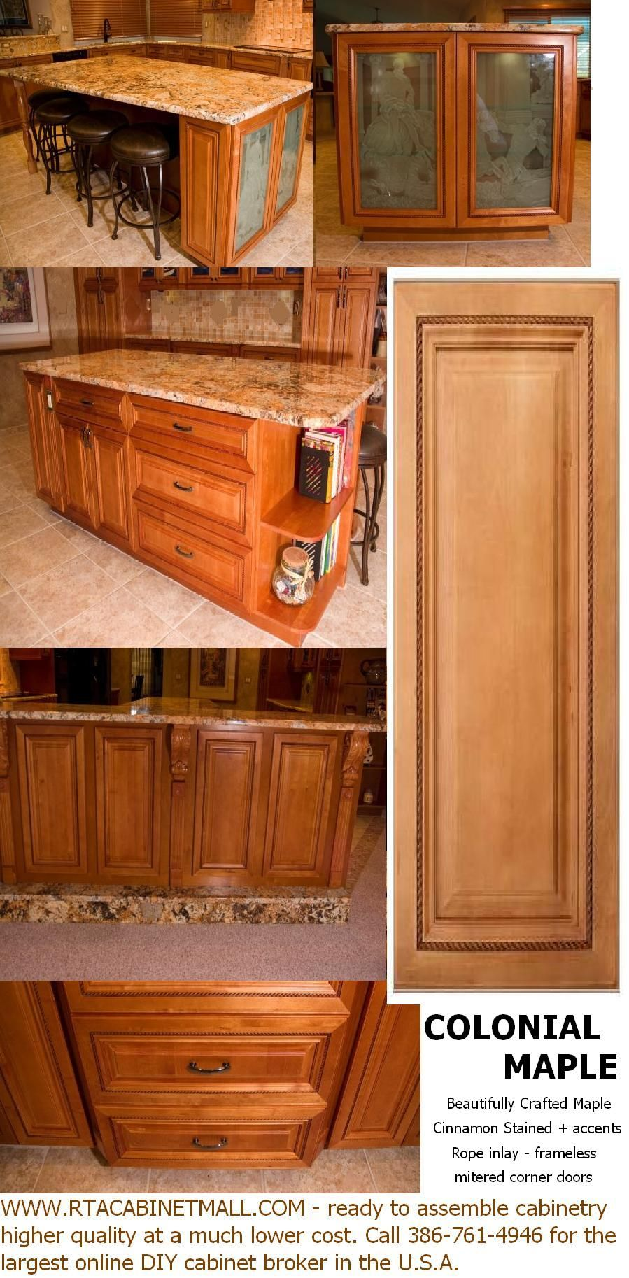 Colonial Maple Rta Cabinets Ready To Assemble Cabinets Frameless Kitchen Cabinets Kitchen Cabinet Kings Small Kitchen Cabinet Design