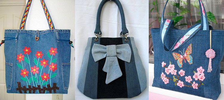 da0ce64638e7 джинсовая сумка своими руками из старых джинс | Handmade | Reusable ...