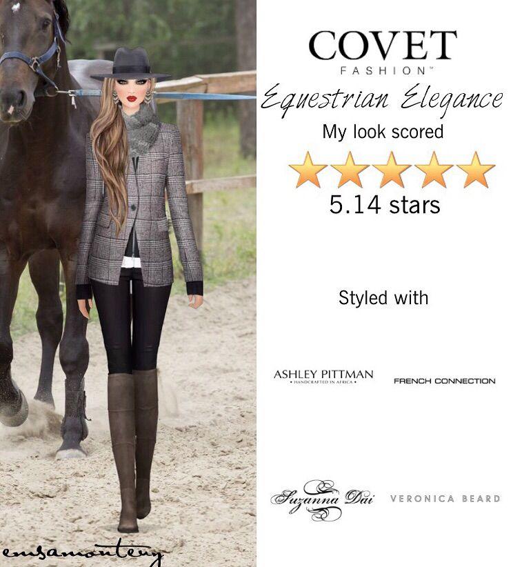 Equestrian Elegance  @covetfashion #covet #covetfashion #covetfashionapp #fashion #womensfashion #covetwinter2015 #winter2015 #equestrian #vincecamuto #frenchconnection #veronicabeard #rebeccaminkoff #suzannadai