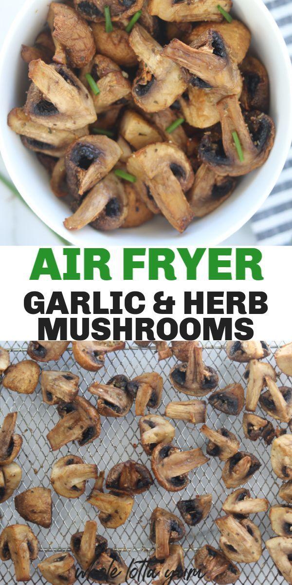 Roasted Air Fryer Mushrooms with Garlic Recipe Food