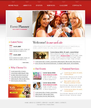 Free Event Planner Website Template  Event Templates Free