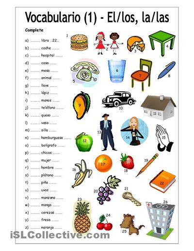 Los articulos re pinned by http www basic spanish words for 10 objetos en ingles del salon de clases