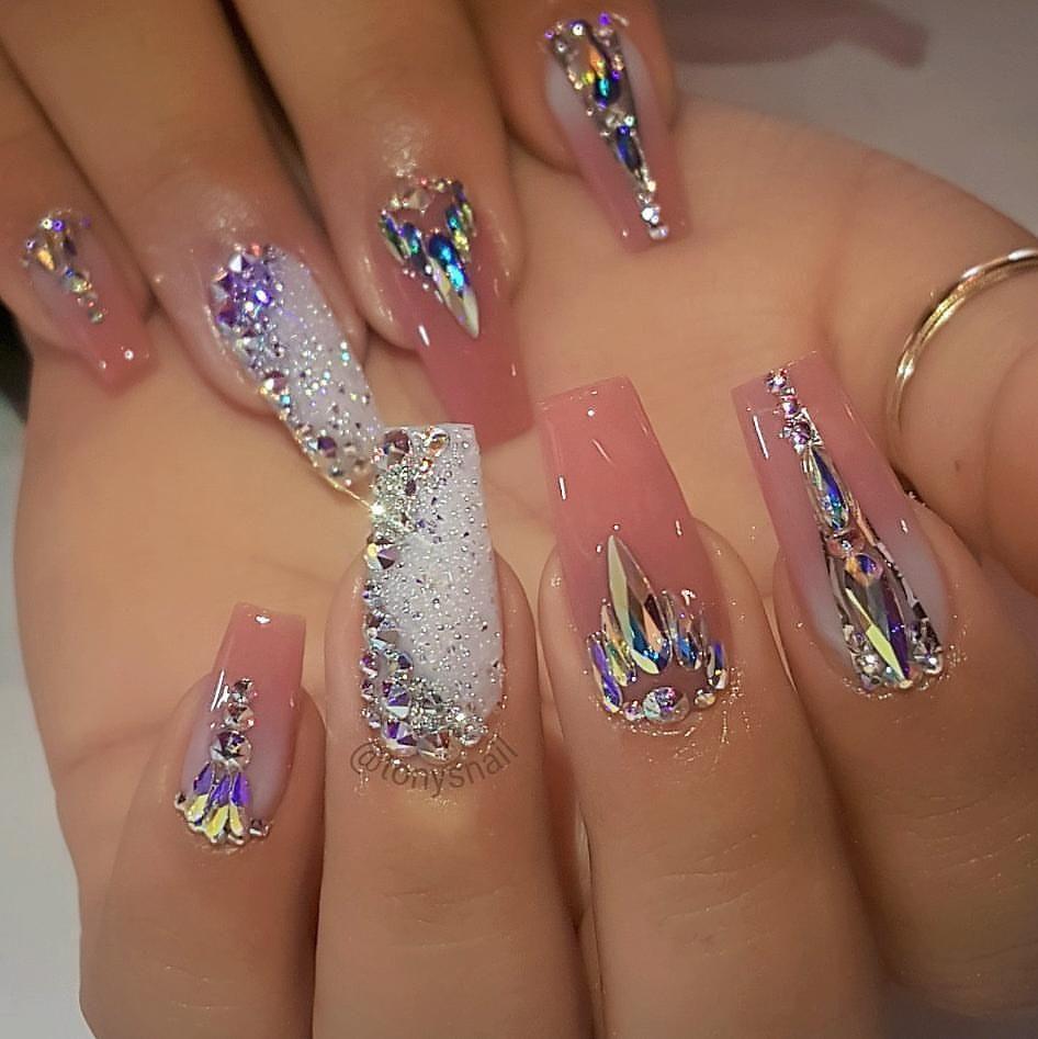 "Gorgeous!!!! Tony\'s Nails (@tonysnail) on Instagram: ""Fancy nails ..."