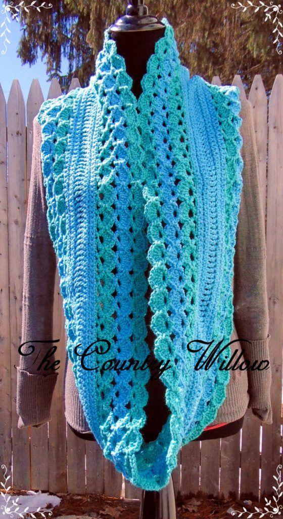 Across The Sea Crochet Scarf | Crochet Scarves | Pinterest