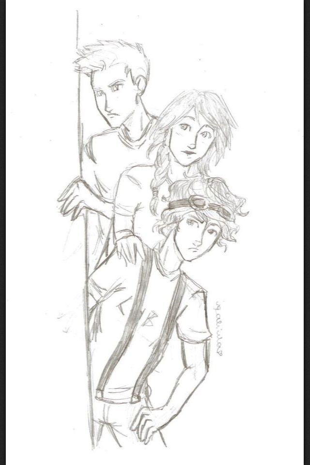 Leo Valdez, Piper Mclean, and Jason Grace. Like they were