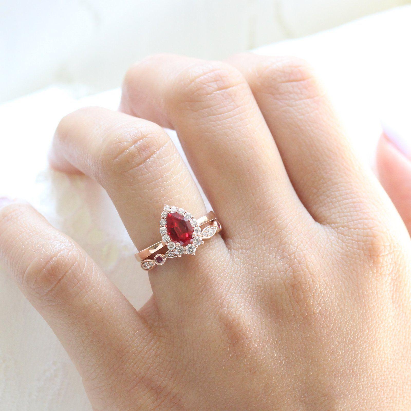 32++ Ruby wedding rings sets ideas