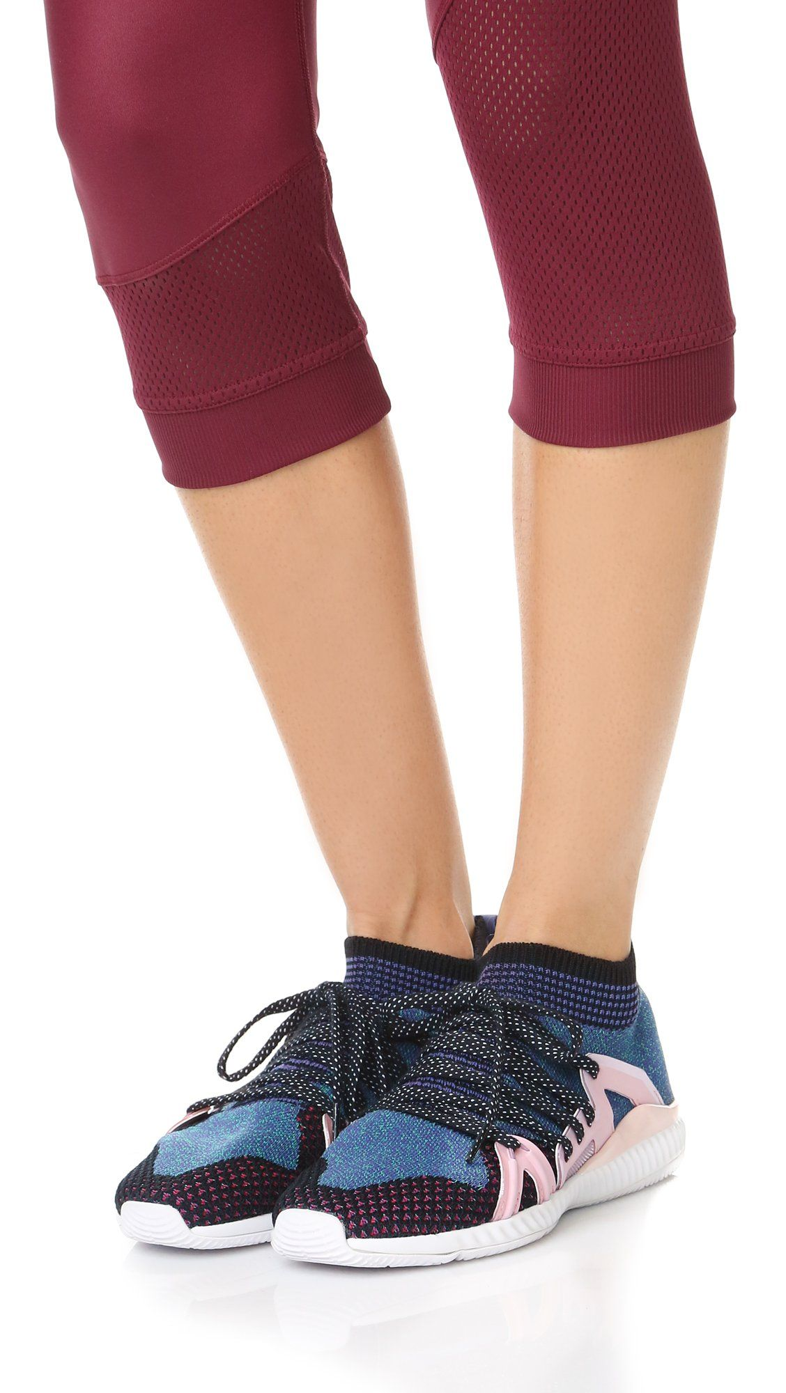 a4c0d133437 adidas by Stella McCartney Womens Crazymove Bounce Sneakers Black and  White Plum Ballet 9 BM US -- Click on the image for additional details.