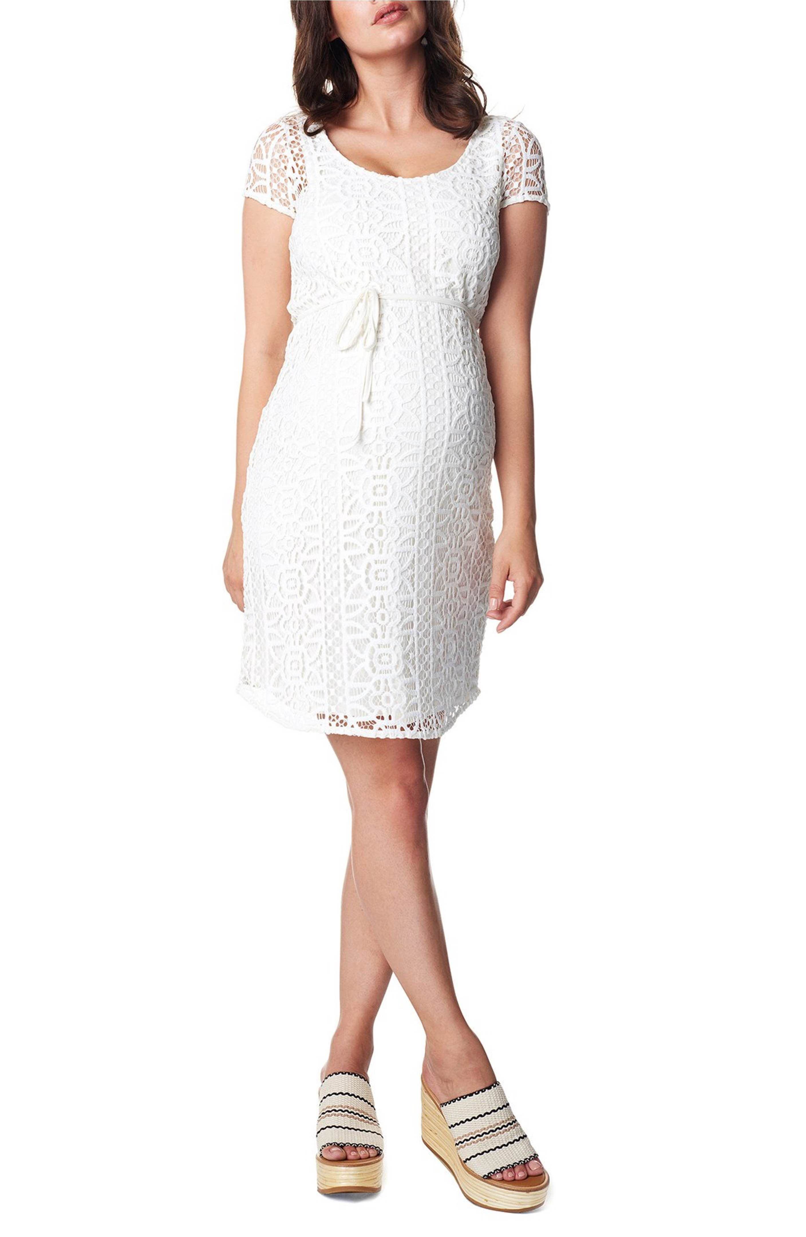 f346592f076a0 Main Image - Noppies Elise Woven Lace Maternity Dress   Maternity ...