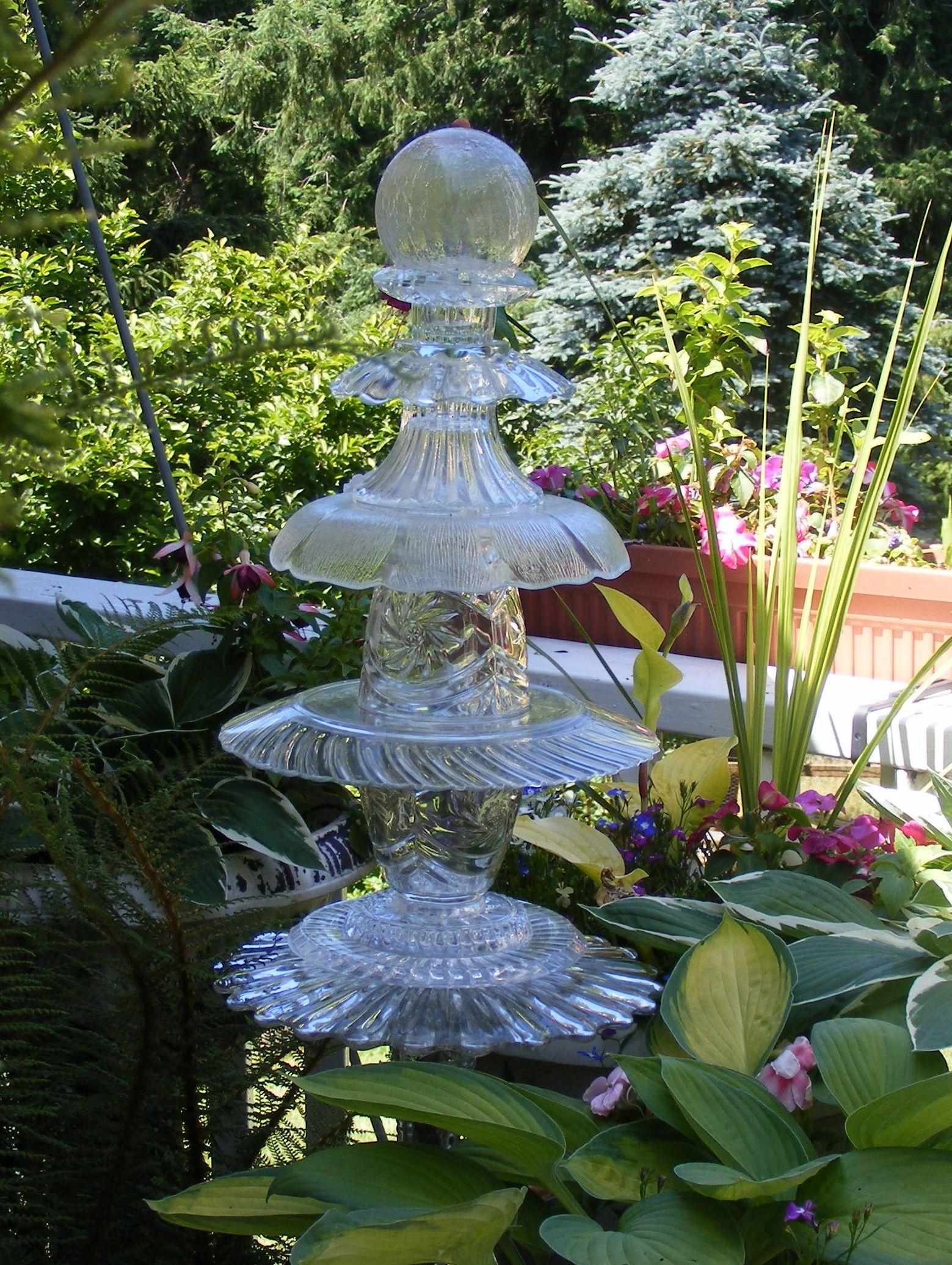 garden glass art Garden totems & Glass flowers