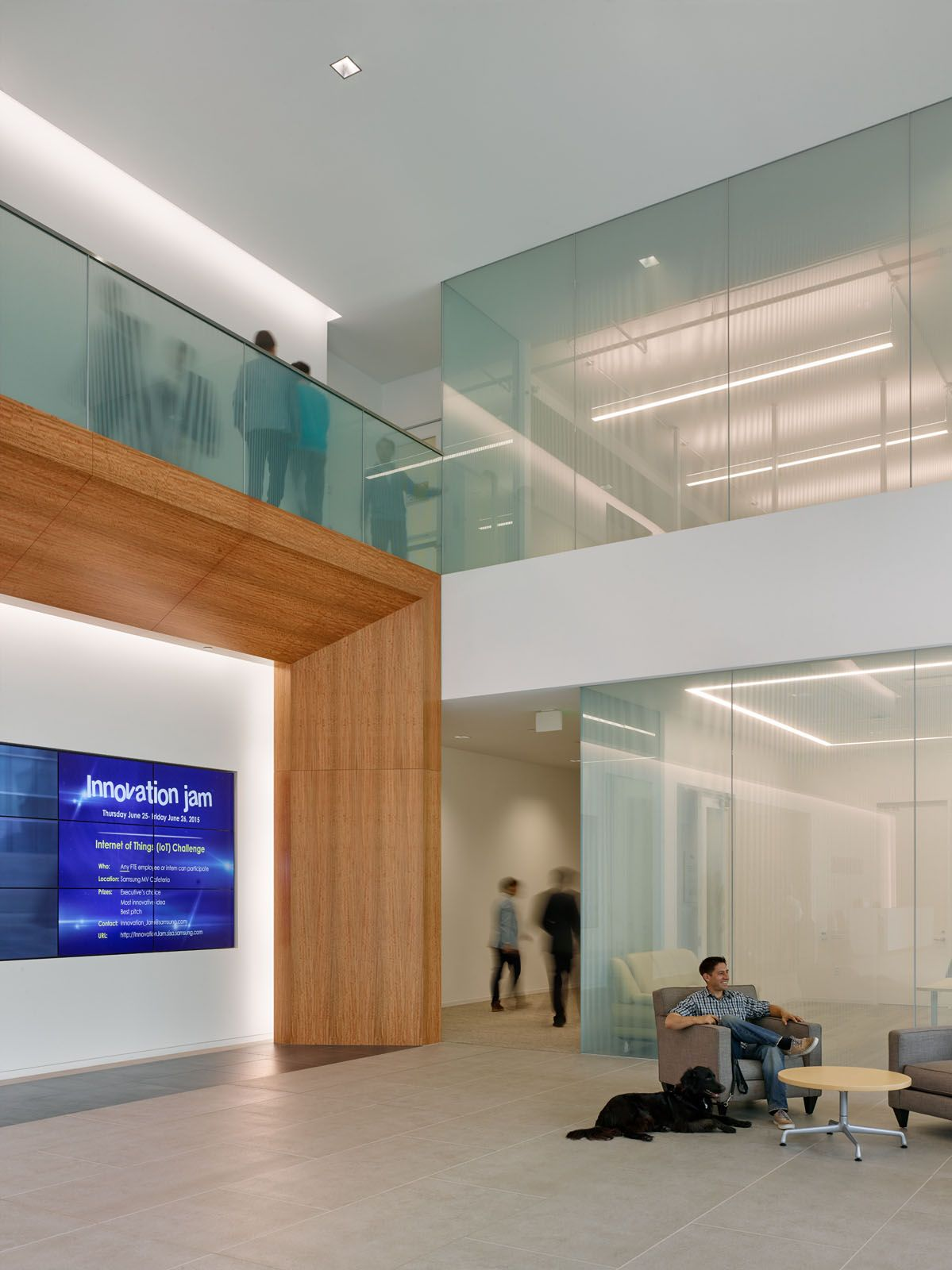 Samsung America (Interior), San Jose, CA. Architect: SOM (Photo