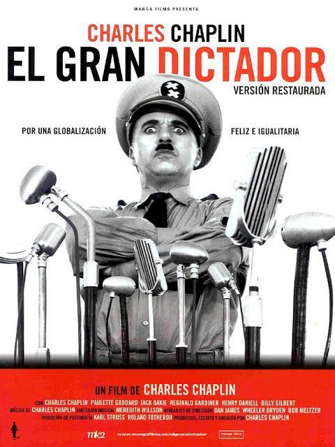 Semiotica I Analisis De El Gran Dictador De Charles Chaplin Chaplin Film Old Film Posters Film