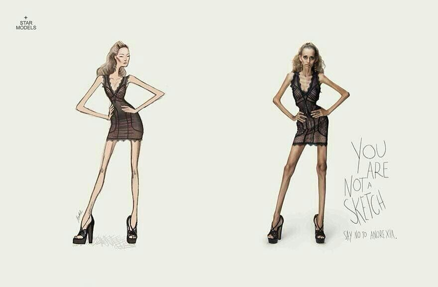 Ad against Anorexia