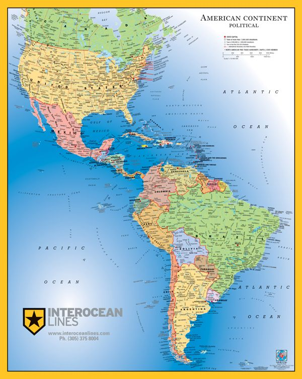 NORTH & SOUTH AMERICA map save creative party ideas