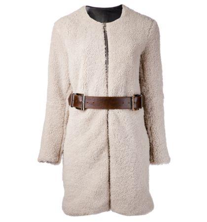 Shearling Cocoon Coat