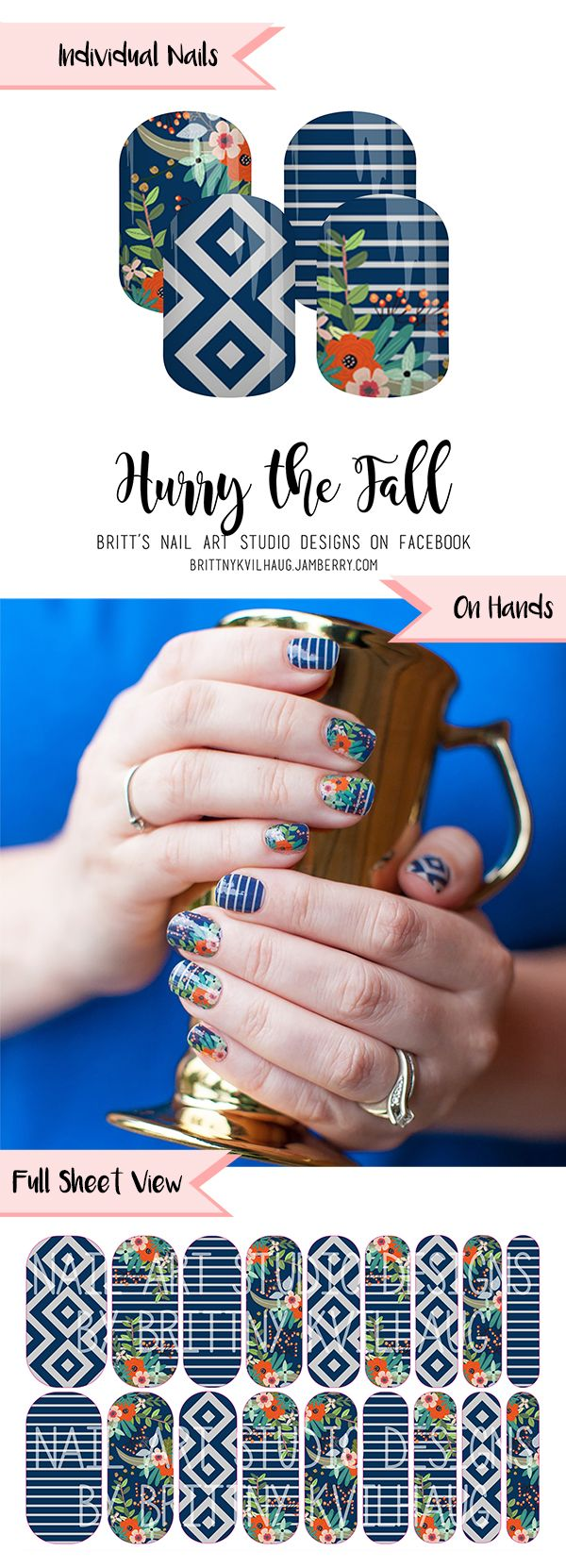 Hurry the Fall Nail Wraps. It\'s easy to fall in love with these ...