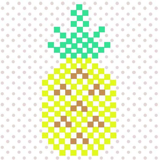 ananas aus hama mini b gelperlen f r die m dels pinterest b gelperlen b gel und hama. Black Bedroom Furniture Sets. Home Design Ideas