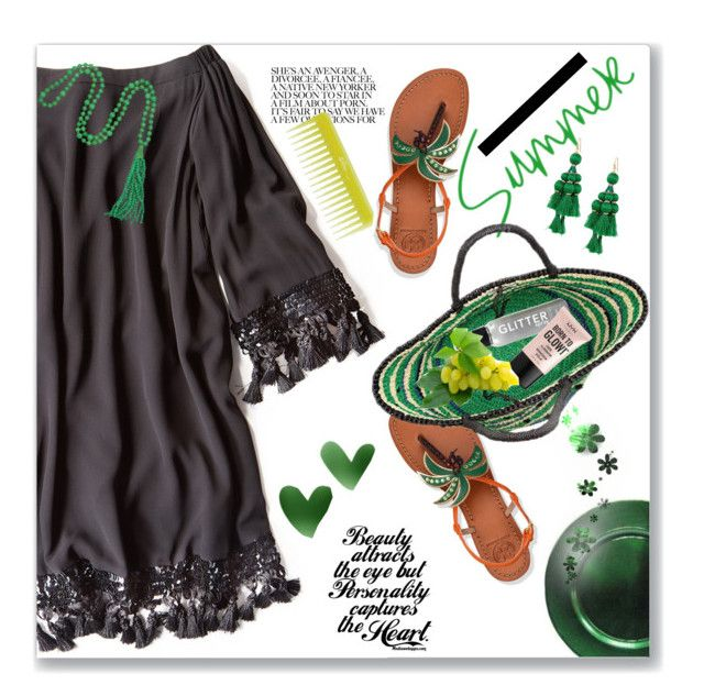 """""""18.07.17"""" by malenafashion27 ❤ liked on Polyvore featuring Mestiza, Olive, Tory Burch, Sensi Studio, NYX, Kate Spade and Kenneth Jay Lane"""
