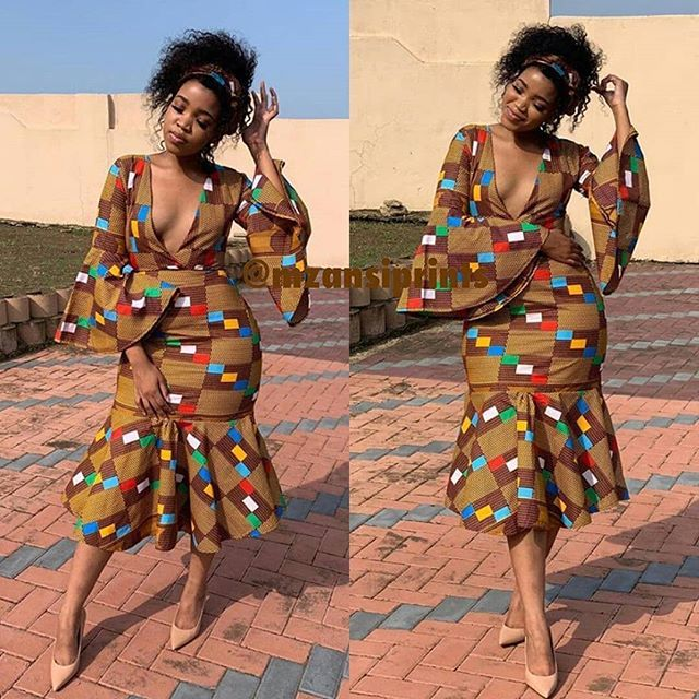 2019 Trending Creative Ankara Long Gowns Styles For African Ladies #africanfashionankara